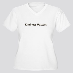 Kindness Matter Women's Plus Size V-Neck T-Shirt