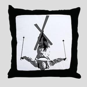 Freestyle Skiing Throw Pillow