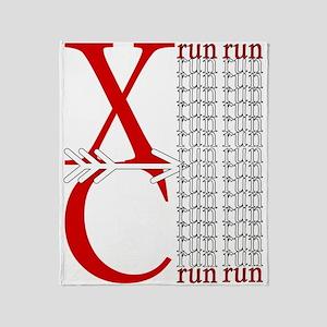 XC Run Red White Throw Blanket