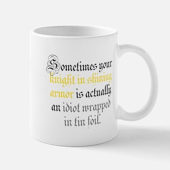 Knight in Tin Foil Mug