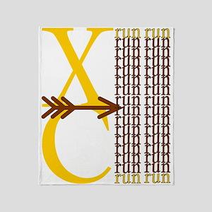XC Run Yellow Brown Throw Blanket