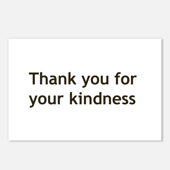 Thank you for your Kindness Postcards (Package of