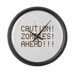 Caution Zombies Ahead Large Wall Clock