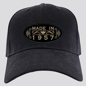 Made In 1957 Black Cap with Patch