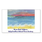 Stinson Beach, California Sticker (Rectangle 50 pk