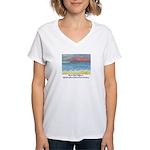 Stinson Beach, California Women's V-Neck T-Shirt