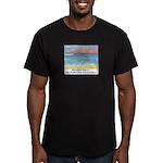Stinson Beach, California Men's Fitted T-Shirt (da