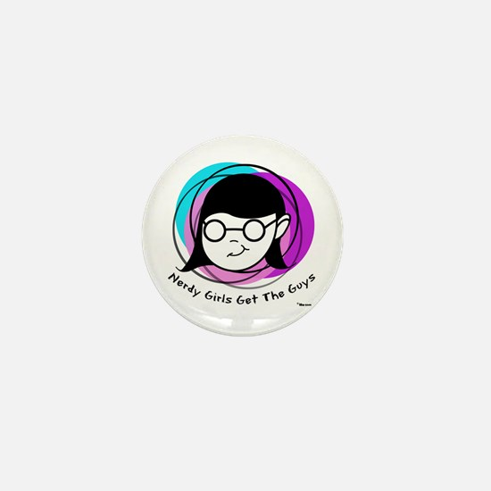 Nerdy Girl Mini Button