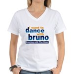 Dance with Bruno Women's V-Neck T-Shirt