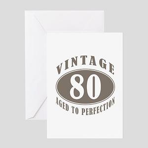 90th Vintage Brown Greeting Card