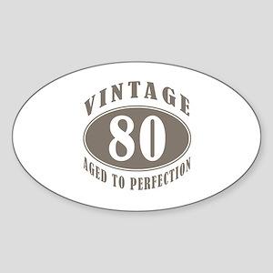 90th Vintage Brown Sticker (Oval)