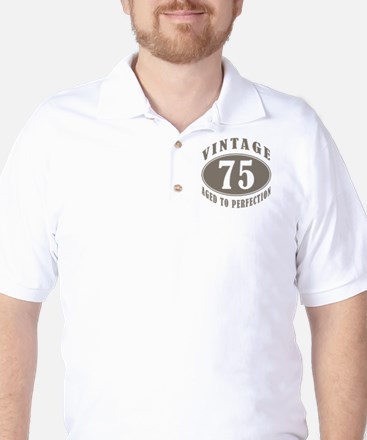 75th Vintage Brown Golf Shirt