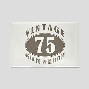 75th Vintage Brown Rectangle Magnet