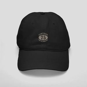 75th Vintage Brown Black Cap