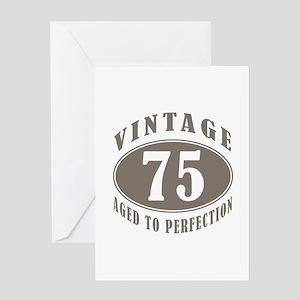 75th Vintage Brown Greeting Card