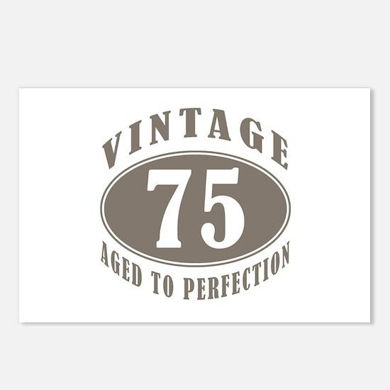 75th Vintage Brown Postcards (Package of 8)