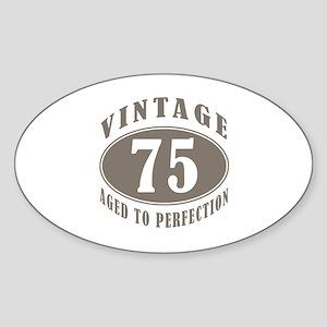 75th Vintage Brown Sticker (Oval)