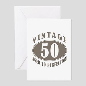 50th Vintage Brown Greeting Card