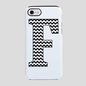 Black and White Chevron Letter F Monogram iPhone 7