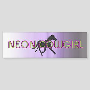 Neon Cowgirl Sticker (Bumper)