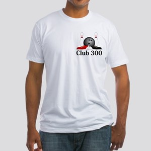 Club 300 Logo 15 Fitted T-Shirt Design Front Pocke