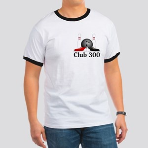 Club 300 Logo 15 Ringer T Design Front Pocket and