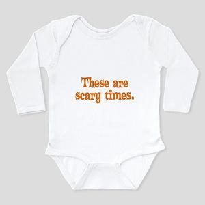 Scary Times Halloween Long Sleeve Infant Bodysuit