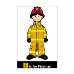Cute Fireman Poster Print (Mini)