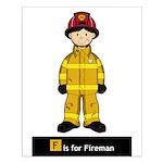 Cute Fireman Small Poster
