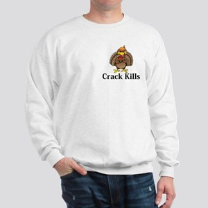 Crack Kills Logo 13 Sweatshirt Design Front Pocket