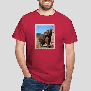 Nicholas the Asian Bull Elephant Dark T-Shirt