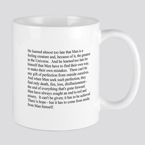 Man is a feeling creature Mug
