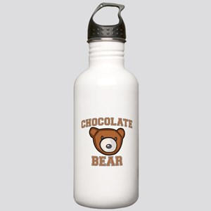 Chocolate Bear Stainless Water Bottle 1.0L