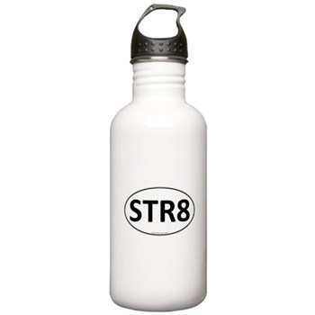 STR8 Euro Oval Stainless Water Bottle 1.0L
