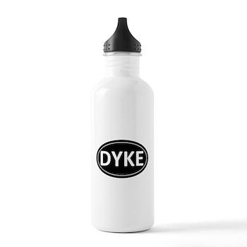 DYKE Black Euro Oval Stainless Water Bottle 1.0L