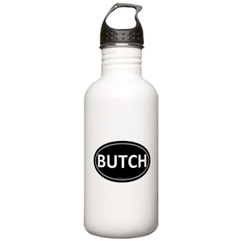 BUTCH Black Euro Oval Stainless Water Bottle 1.0L