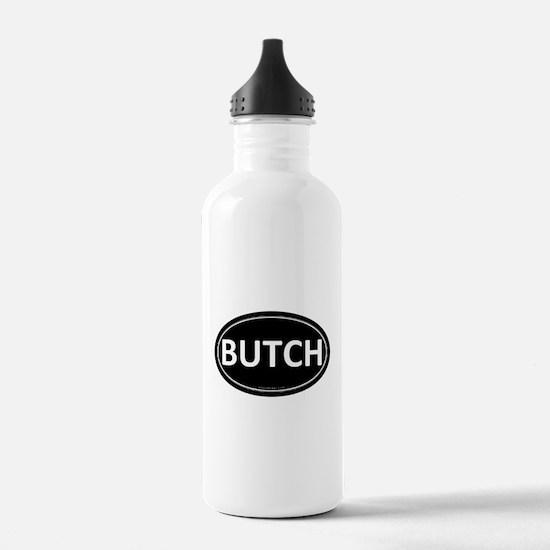 BUTCH Black Euro Oval Water Bottle