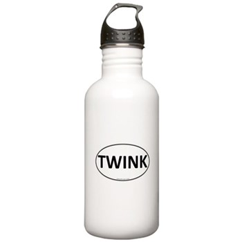TWINK Euro Oval Stainless Water Bottle 1.0L