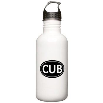 CUB Black Euro Oval Stainless Water Bottle 1.0L