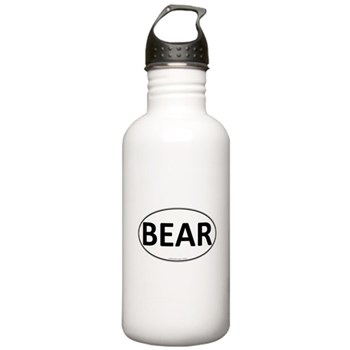 BEAR Euro Oval Stainless Water Bottle 1.0L
