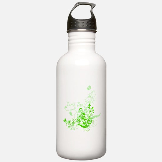 Earth Day Swirls Water Bottle