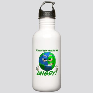 Pollution Makes Me Angry! Stainless Water Bottle 1