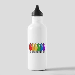 Rainbow Christmas Tree Lights Stainless Water Bott
