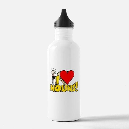 I Heart Nouns - Schoolhouse Rock! Sports Water Bottle