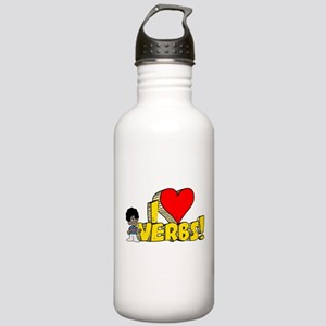 I Heart Verbs - Schoolhouse Rock! Stainless Water