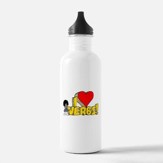I Heart Verbs - Schoolhouse Rock! Sports Water Bottle