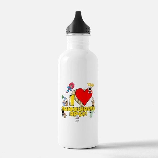 I Heart Schoolhouse Rock! Sports Water Bottle