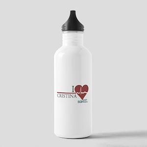 I Heart Cristina - Grey's Anatomy Stainless Water