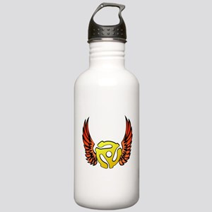 Red Winged 45 RPM Adapter Stainless Water Bottle 1