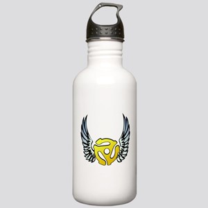 Blue Winged 45 RPM Adapter Stainless Water Bottle